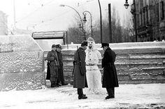 Mur de Berlin Noël 1961. Léon Herschritt