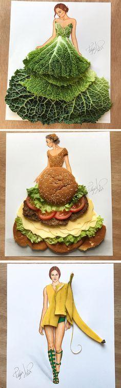 Fashion illustration by Edgar Artis #fashionillustration #foodart