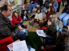 """Leitura de contos em Benavente, na livraria """"Fadas, Bruxas e Dragões""""."""