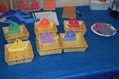 pinterest/kids foods | year old center- sorting boats by color