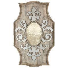 Aidan Gray Fleur de Lis Wooden Mirror