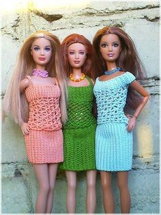 Crochet Barbie dress: