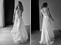Hermoso vestido de novia falda y top