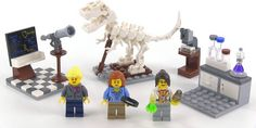 An astronomer, a paleontologist, and a chemist make up the Research Institute. LEGO definitely had room to grow with this line.