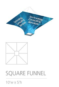 3D HANGING STRUCTURE - SQUARE FUNNEL #Trade#show #Displays #Hanging #Structure. Call us today for a quote. 1-866-7ULTIMA (1-866-785-8462) Trade Show, Quote, 3d, Quotation, Qoutes, True Words, Quotes, Quotations