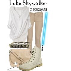 Luke Skywalker, created by lalakay on Polyvore