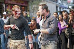 "<p>Philip Winchester and Sullivan Stapleton in ""Strike Back.""</p>"