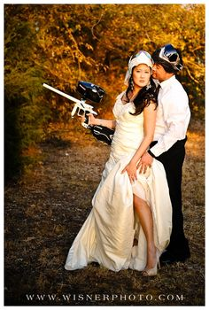 paintball wedding Blog | Wisner Photo.... not my kinda pose. But i could dig this