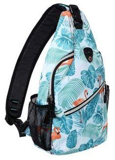 Lis-shan Men Genuine Leather Chest Bag Crossbody Shoulder Bag Sling Bags Backpack Messenger Bag Daypack for Business Casual Sport Hiking Travel Brown