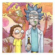 Rick and Morty on Behance