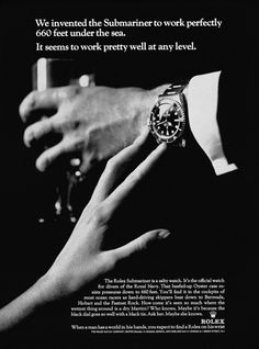 """Rolex Submariner. """"Ask her. Maybe she knows."""""""