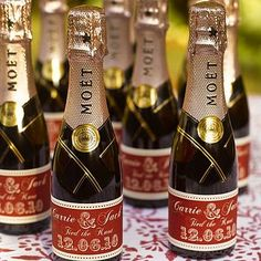 Um these are a must....I love champagne and to have our names on a bottle...too cute!