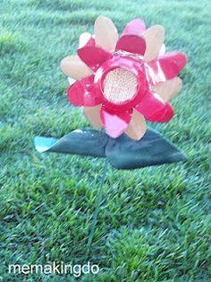 Soda Can Flower Plant Poke