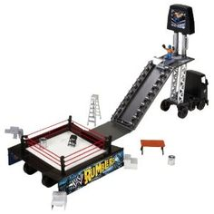WWE Rumblers Transforming Rumble Big Rig Arena Playset Incomplete Original Box for sale online John Cena Toys, Wwe Toys, Wwe Action Figures, Pokemon Toy, Toys Online, Toy Trucks, Playroom, Wrestling, 9th Birthday