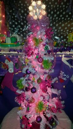Barney and friends baby xmas tree