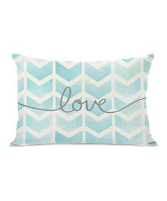 This 'Love' Waterfall Chevron Throw Pillow by OneBellaCasa is perfect! #zulilyfinds
