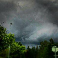 Summer in Karlskoga — #Summer #Karlskoga #sky #clouds #rain #instagram #instacanvas #instaart