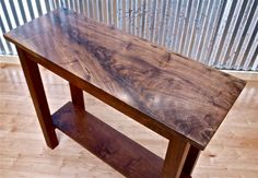 Walnut+Sofa/Entry+table+by+michaelheuser+on+Etsy,+$900.00