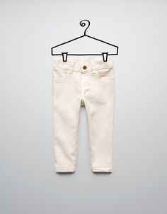 twill trousers with studs at the back - Trousers - Baby girl (3-36 months) - Kids - ZARA United States
