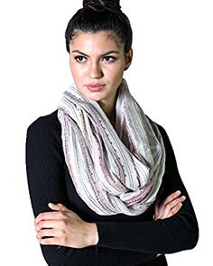 Women's Shimmer Infinity Scarf, Festival Bliss Boho Crochet Loop Shawl Cinderella White, 14 other colors available