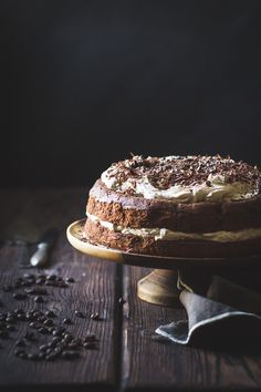 Chocolate Chestnut Cream Cake with Coffee + Rum {gluten-free} YUM