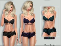 Sims 4 CC's - The Best: Diana Lingerie by Karla Lavigne