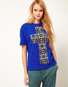 ASOS T-Shirt with Aztec Cross  SGD$39.56
