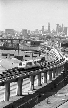 """A BART train coasts through Oakland on the first day of operation. """"The first train was packed,"""" a rider recalls. Photo: Charles B. Peterson, The Chronicle / SF"""