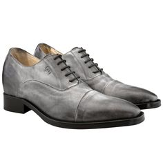 Elevator shoes - Upper in full grain leather. Upper leather, outsole and midsole are sewn at sight, cotton waxed shoe laces. Hand Made in Italy. elevator shoes, elevator shoes for men, height increasing shoes