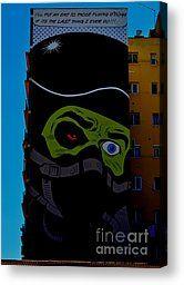 Night Hawk Canvas Print by Urban Artful
