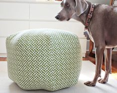 30 DIY Ottoman & Floor Pouf Projects: Awesome Tutorials & Ideas for Your Cozy Room Diy Ottoman, Fabric Ottoman, Ottoman Ideas, Ottoman Footstool, Diy Pouf, Floor Pouf, Floor Cushions, Sewing Projects, Diy Furniture