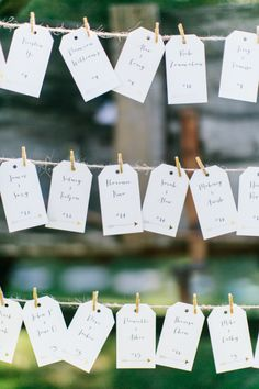 Clothes line hanger: http://www.stylemepretty.com/california-weddings/malibu/2015/01/30/music-festival-inspired-malibu-wedding/   Photography: Maria Lamb - http://marialamb.co/