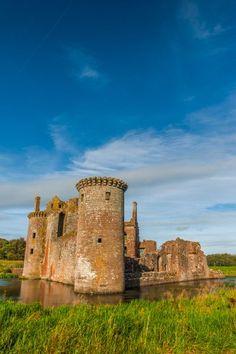 13th century Murdoch's Tower and Caerlaverock Castle, Dumfries and Galloway, Scotland