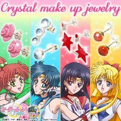 「-Crystal make up jewelry-」シリーズ。