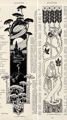 """Julius Diez Jugend magazine, the German fin de siècle periodical of """"art and . - Julius Diez Jugend magazine, the German fin de siècle periodical of """"art and life"""", this post - Art Inspo, Kunst Inspo, Design Art Nouveau, Art Design, Art And Illustration, Magazine Illustration, Book Illustrations, Architecture Art Nouveau, Jugendstil Design"""