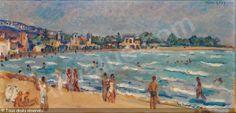 Accueil Art, Luxe & Collection     VENTES AUX ENCHERESCLUB ARTVALUEARTVALUATION                                LÉVY Moses, 1885-1968 (France) Titre : LE KRAM  Date : 1941    : Huile sur carton