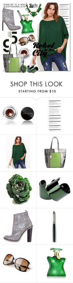 """""""SHEIN: Green T-shirt"""" by wanda-india-acosta on Polyvore featuring Amrita Singh, Bobbi Brown Cosmetics, Arche, Kenneth Cole Reaction, Fantasy Jewelry Box, Maison Margiela, Opening Ceremony, Laura Mercier and Bond No. 9"""