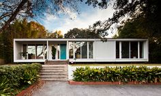 Constantine Residence by Chimay Bleue, via Flickr    Constantine Residence    Architect: Elliott Constantine (1974)  Location: Charleston, SC    I think there are only about three or four mid-century modern houses in all of Charleston. This one has been featured in several newspapers and magazines and is a real gem. It's currently for sale.