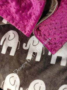 Minky Child Blanket Elephant Crib Blanket Animal Print Crib Blanket Minky - http://babyfur.net/minky-baby-blanket-elephant-crib-blanket-animal-print-crib-blanket-minky/