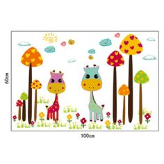 Sticker perete girafe şi ciuperci uriaşe - Baby and Me Websh Stickers, Baby, Baby Humor, Infant, Babies, Babys, Decals