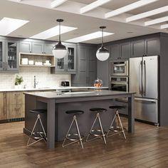Inspiration armoires de cuisines – Miralis Inspiration, Kitchen, Table, Furniture, Home Decor, Contemporary Style, Contemporary Design, Kitchen Things, Kitchen Armoire