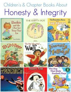 Children's Picture Books & Elementary Chapter Books about Honesty & Integrity