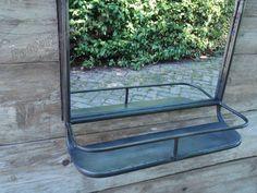 Spiegel Zwart Metaal : Home society logan metaal spiegel zwart grijs cm