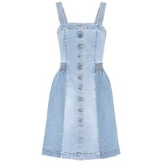 Stella McCartney Denim Dress (£730) ❤ liked on Polyvore featuring dresses, denim, overalls, blue, denim dresses, stella mccartney dress, blue color dress, blue dress, stella mccartney and blue denim dress