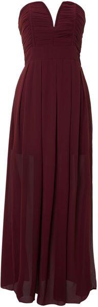 Tfnc Strapless Maxi Dress - Lyst