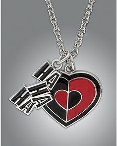 HaHa Heart Harley Quinn Necklace - Spencer's