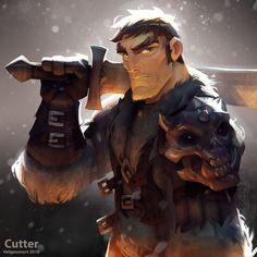 Dungeons & Dragons - Cutter , Johannes Helgeson on ArtStation at https://www.artstation.com/artwork/B9KAA