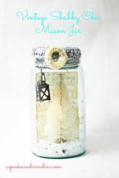 Shabby Chic Holiday Mason Jar