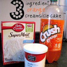 Whisk together cake mix and orange soda until batter is a peachy color and has few lumps.