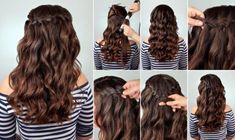 These 25 braided hairstyles are perfect for an easy going summer day. Click through to see all 25 and get some serious hair inspiration! Wavy Hairstyles Tutorial, Cool Braid Hairstyles, Loose Hairstyles, Unique Hairstyles, Bride Hairstyles, Hairstyle Braid, Kids Hairstyle, Teenage Hairstyles, Hairstyle Ideas